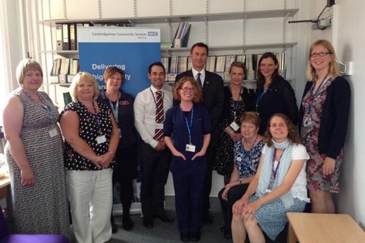 Rt Hon Jeremy Hunt visiting Cambridgeshire Community Services NHS Trust