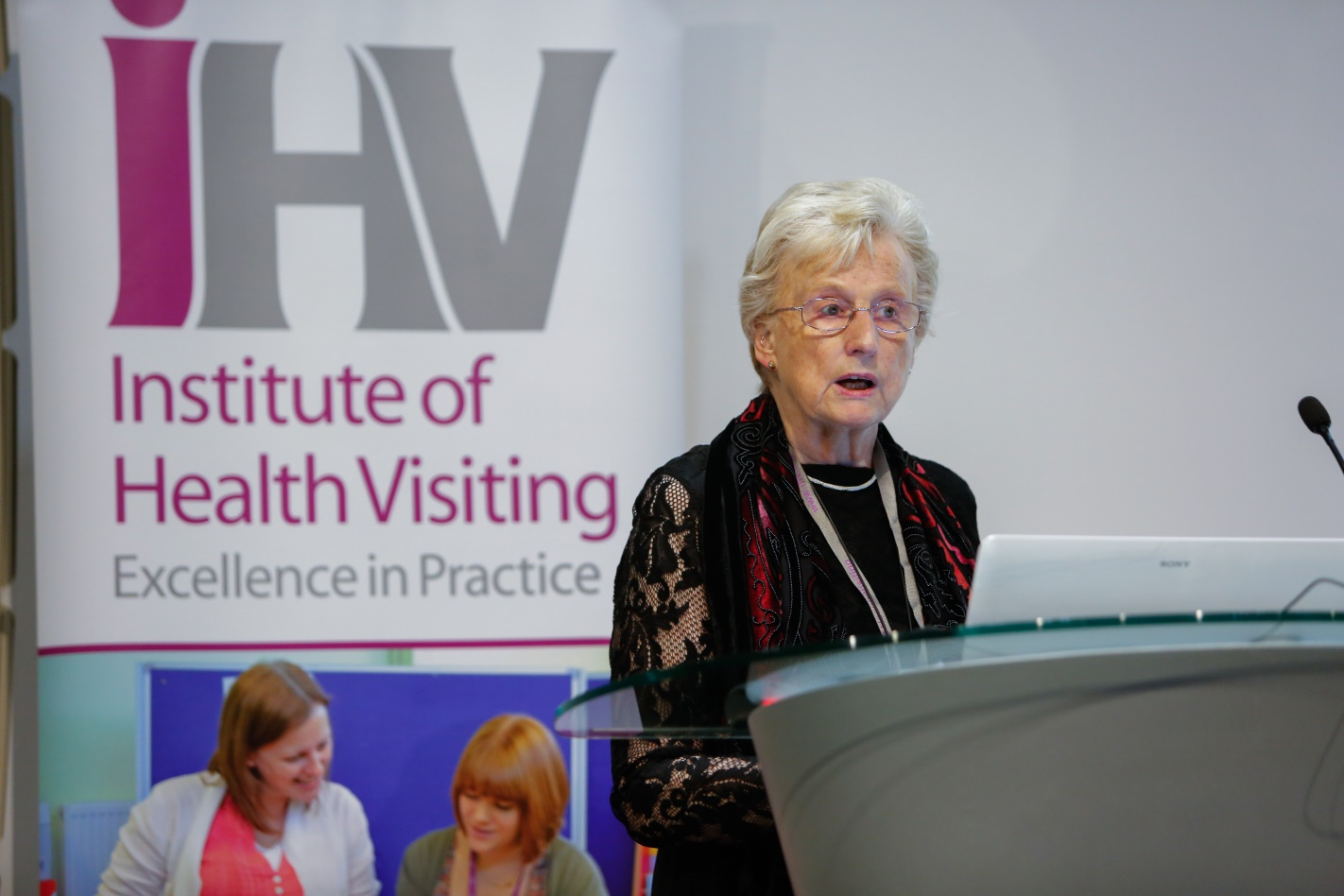 Professor Dame Sarah Cowley presenting The Essence of Health Visiting