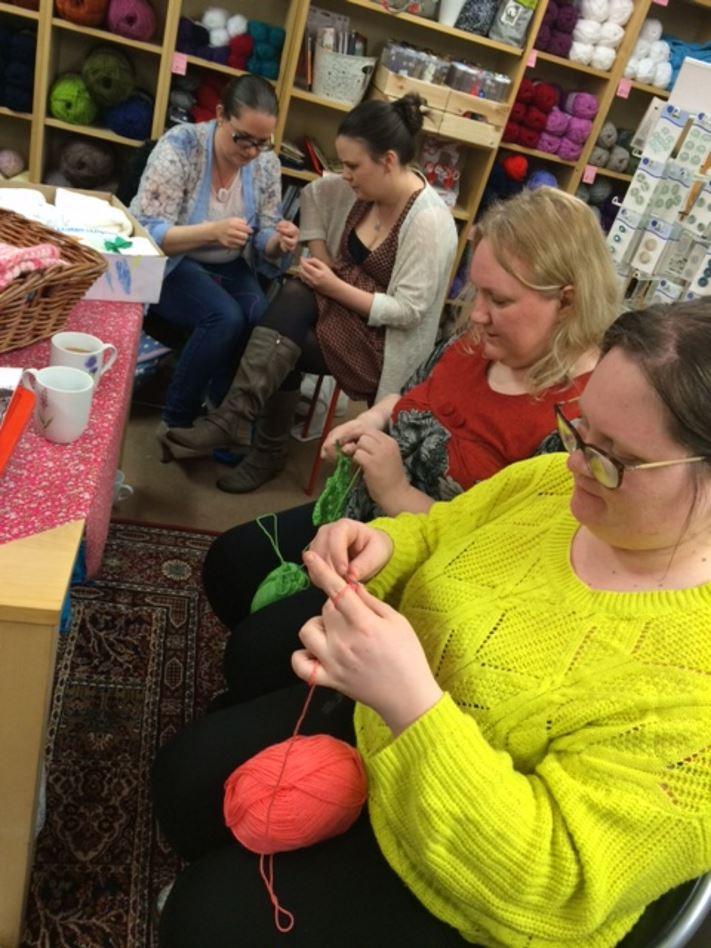 Knitter of Knitting Smiles Across East Lancs