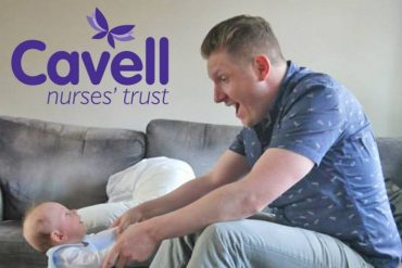 John Orchard, Chief Executive, Cavell Nurses' Trust, and his son Stanley