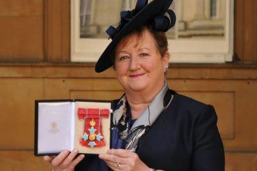 Dr Cheryll Adams CBE, Executive Director of the Institute of Health Visiting at Buckingham Palace