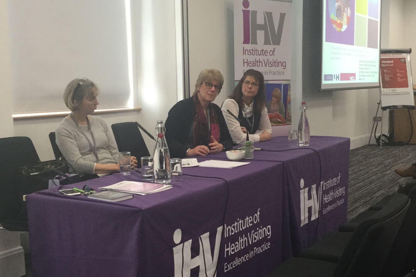 Panel Q&A session with (from left), Professor Louise Condon, Professor Sally Kendall and Dr Karen Whittaker
