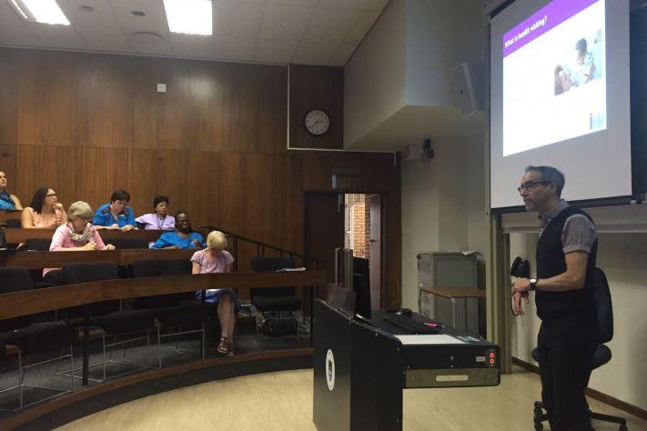 Robert giving his presentation