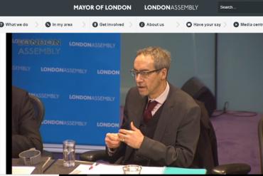 Dr Robert Nettleton, iHV Education Adviser, at the London Assembly health Committee