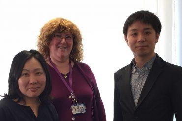 From left: Riho Iwasaki, Jackie Gaventa and Takashi Naruse