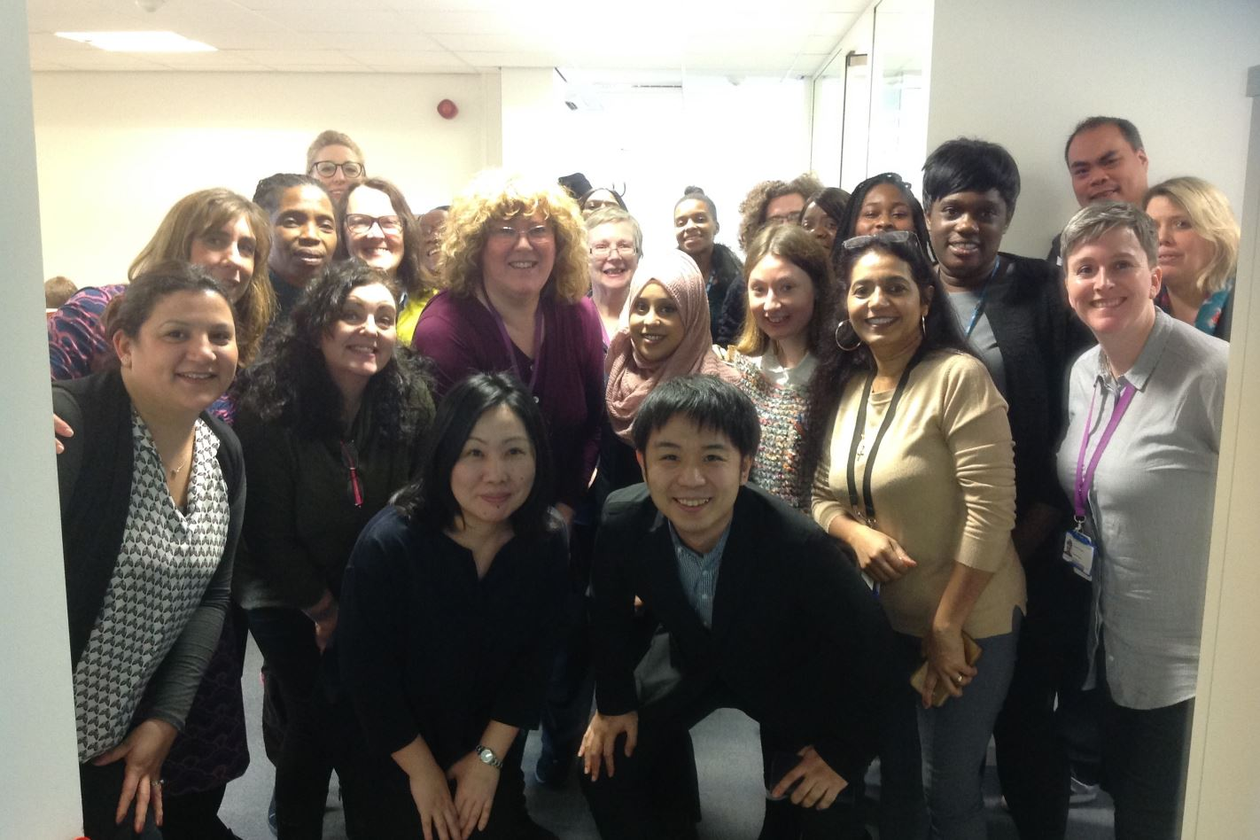 Japanese public health nurse lecturers with the Hornsey Central HV team
