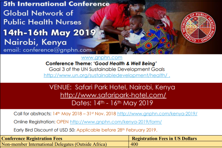 5th International GNPHN Conference – last call for abstracts