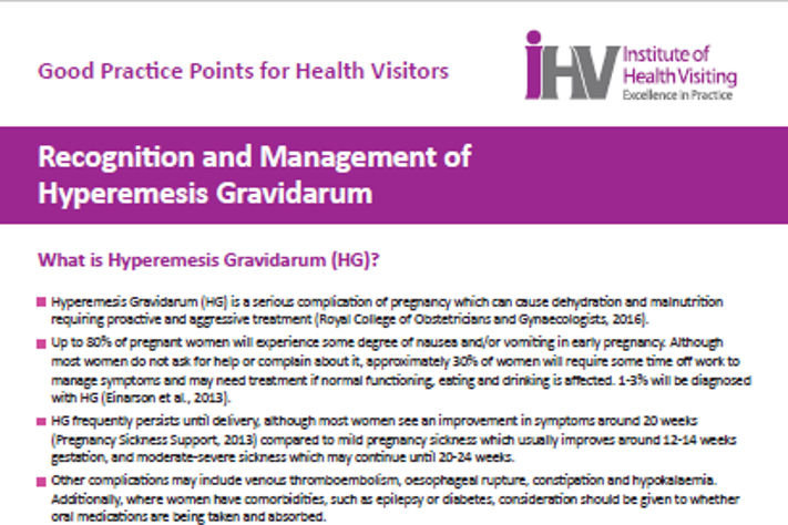 New Gpp Recognition And Management Of Hyperemesis Gravidarum