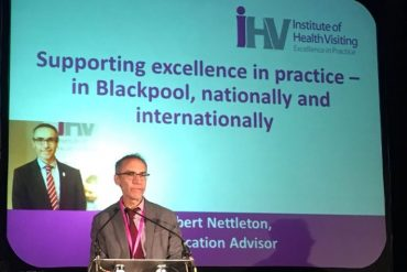 Dr Robert Nettleton addressing the Blackpool Better Start launch event