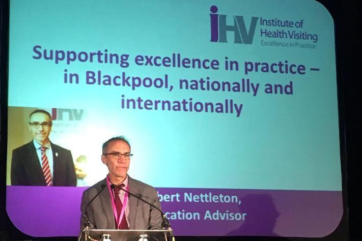 Dr Robert Nettleton addressing the Blackpool Better Start launch event