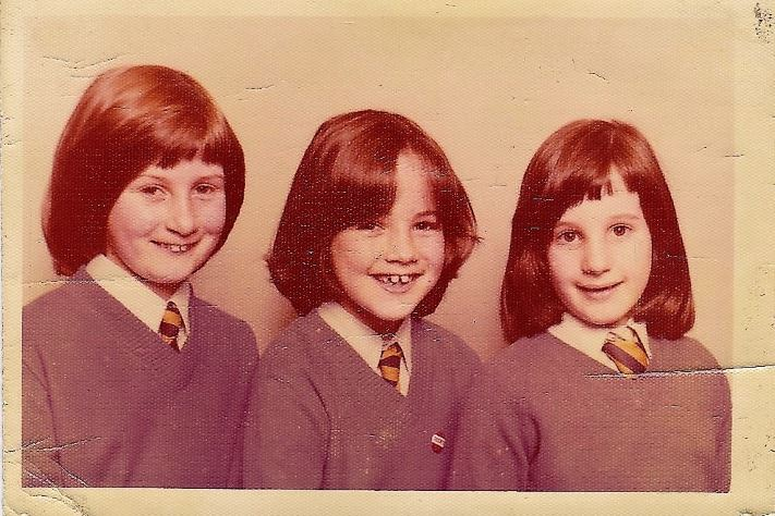 Philippa Bishop as a young girl with her two elder sisters